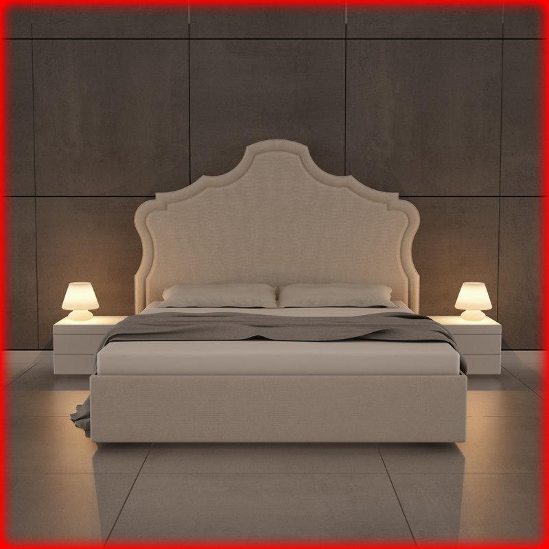 bed bedroom room 3ds