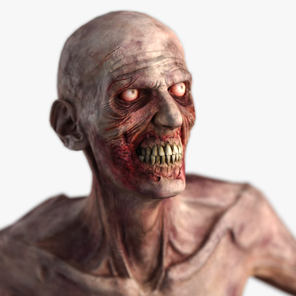 3d model zombie - character
