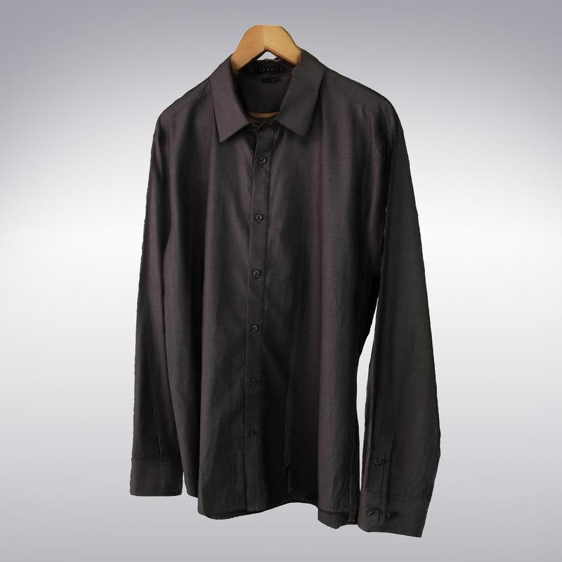 men s black shirt 3d model