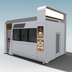 coffee drive-through 3d model