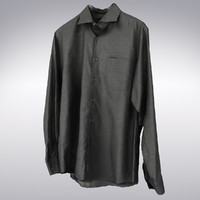 Men's Shirt Gray - 3D Scanned