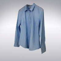 Men's Shirt Blue - 3D Scanned