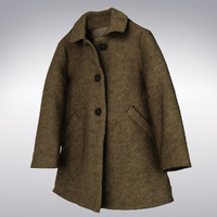 Women's Vintage Wool Winter Coat