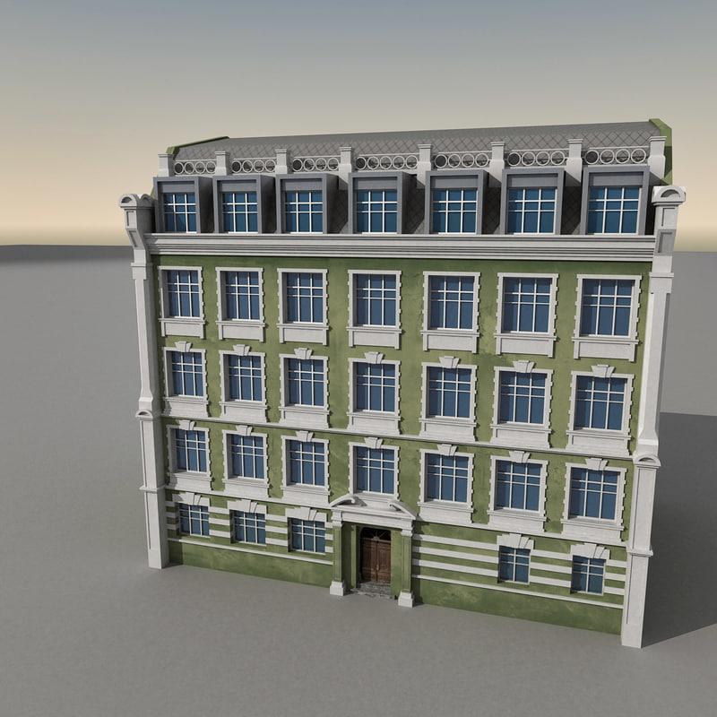 european building europe 3d model