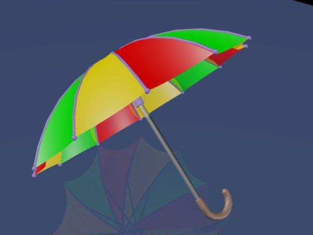 2014 umbrella 3d dwg