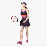 Rigged Tennis Player Woman