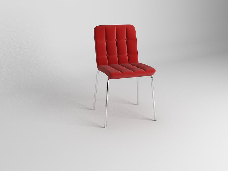 3d model chair waiting reception