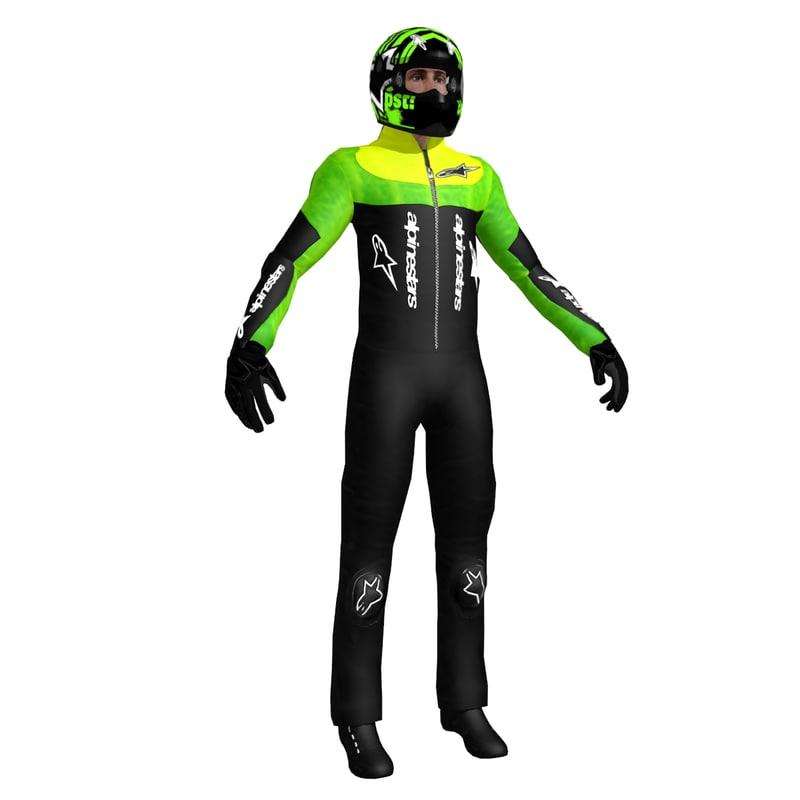 3d model racing driver