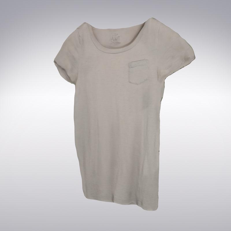 max women s t-shirt scanning