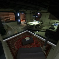 science fiction apartment 2 3d model