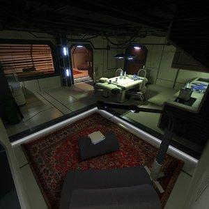 science fiction apartment 2 3d model