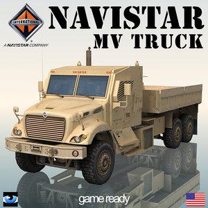 navistar 7000 mv military truck 3d model