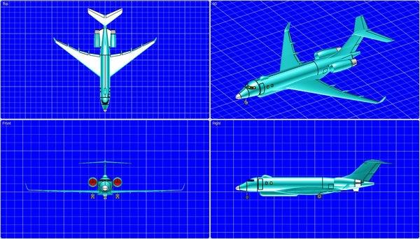 3ds max sentinel surveillance aircraft solid