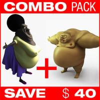 3d fbx wrestler fat sumo
