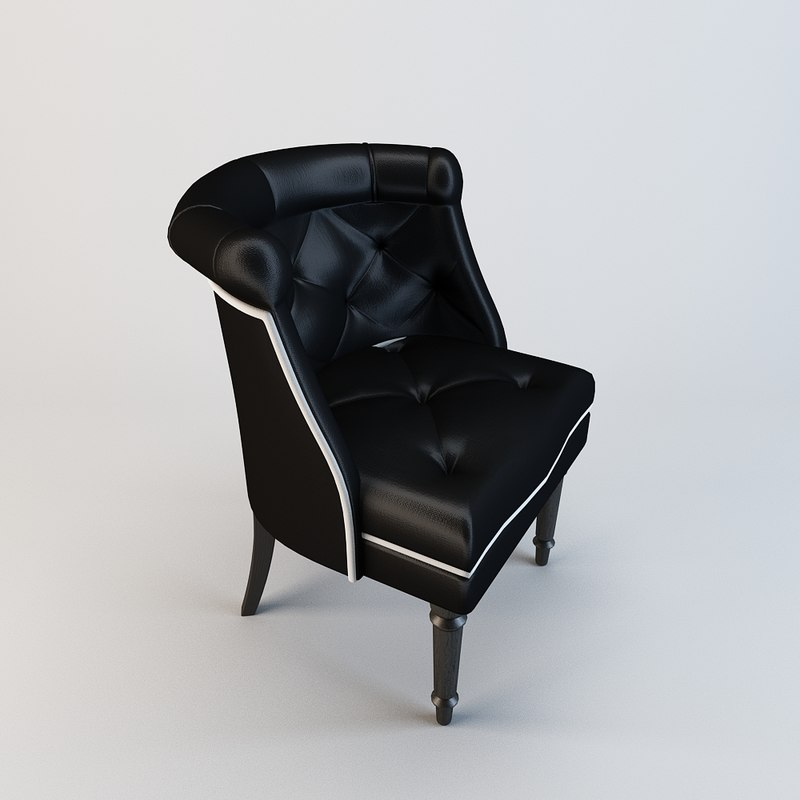 3d chair arm living model