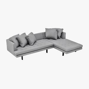 3d model niels edward sofa