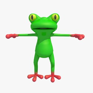 3d model frog toad cartoon character