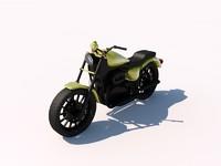 3d model harley davidson street motorcycle chopper