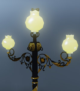 3ds max street lamp