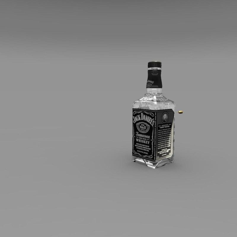 animation jack daniels bottle ma