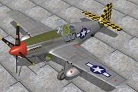 north american p51b fighter 3d c4d