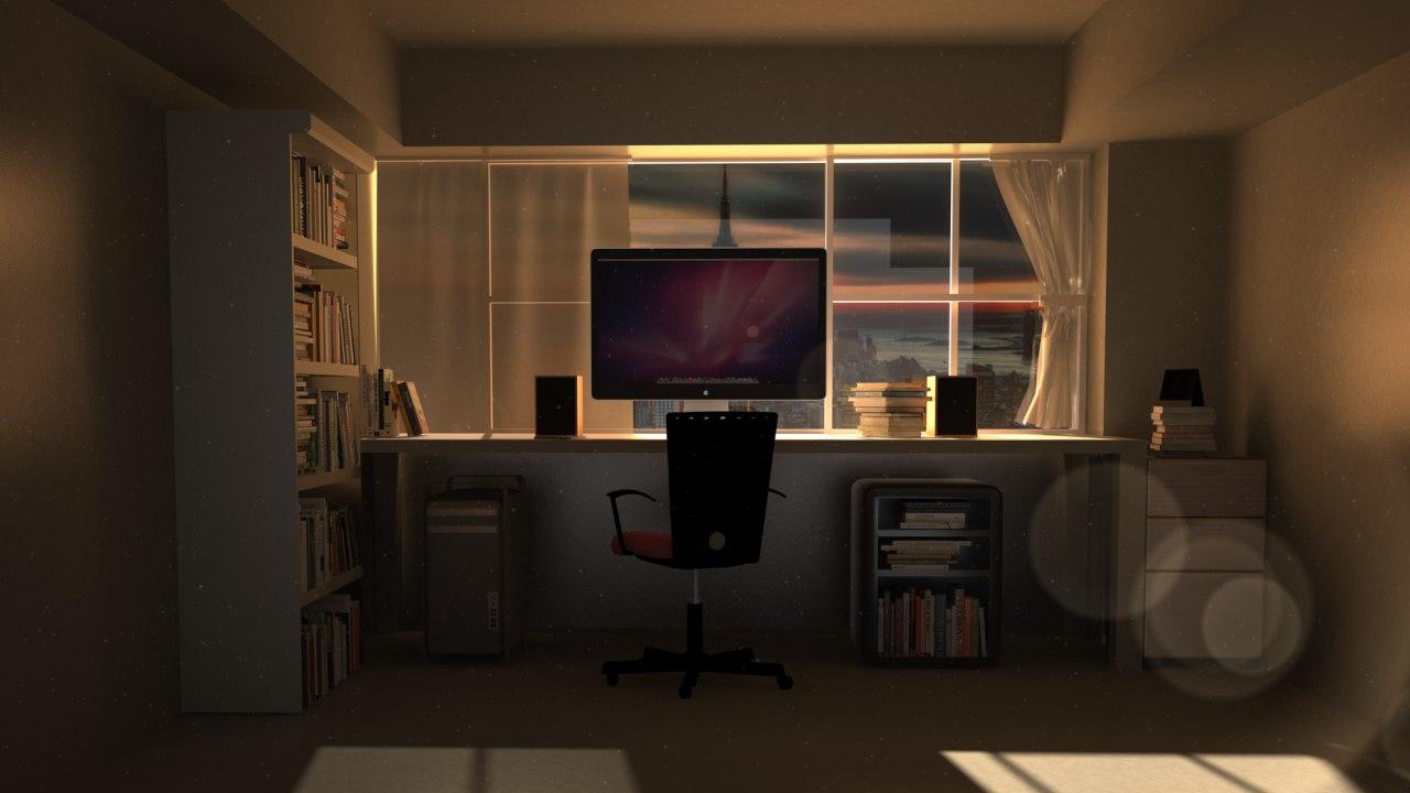 3d modern room model