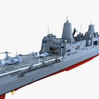 USS San Diego with MV-22B Osprey