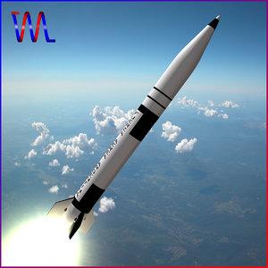 3d short missile alacran model