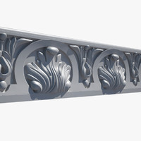 3d model classical cornice el49