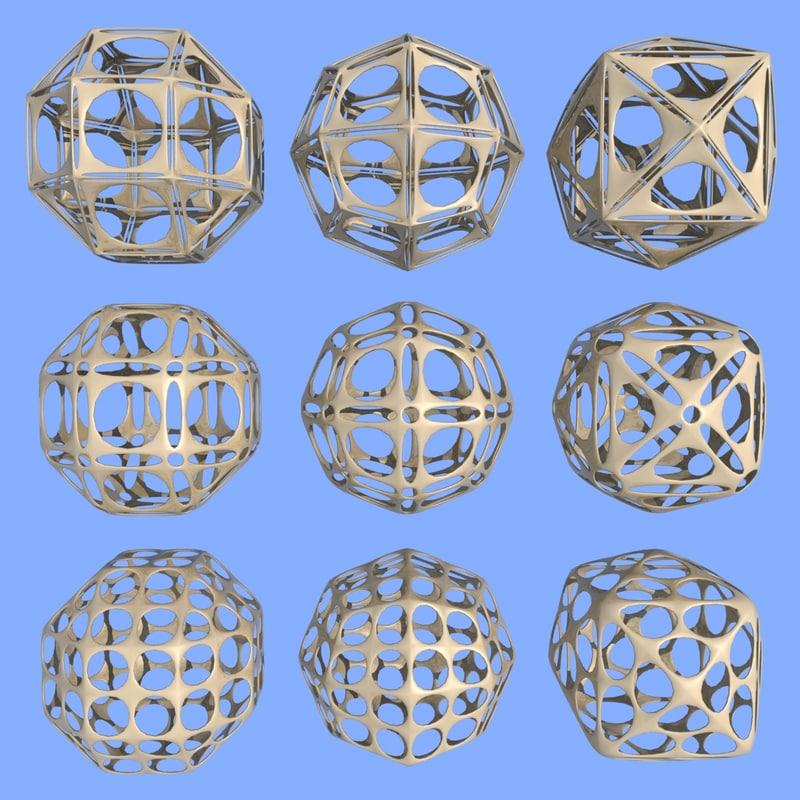 geometric shape mht-08 3d model