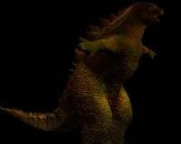 3d godzilla movie model