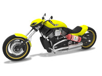 motorcycle harley davidson 3d model