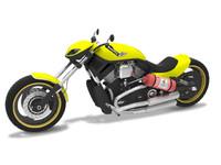 motorcycle harley davidson 3d model