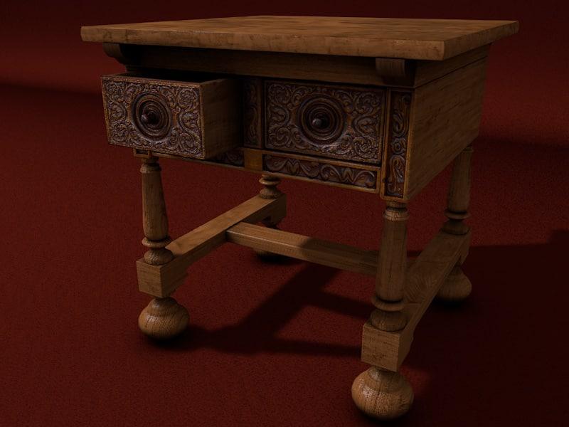 renaissance table obj