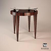 3d max oak table design