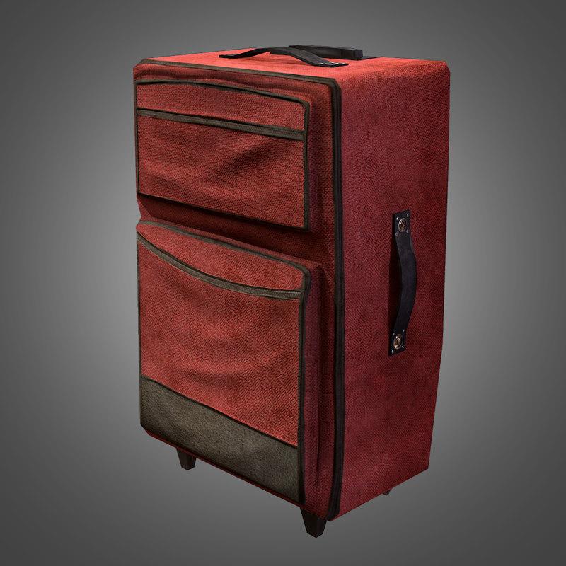 3ds max travel suitcase