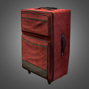 3ds max travel suitcase