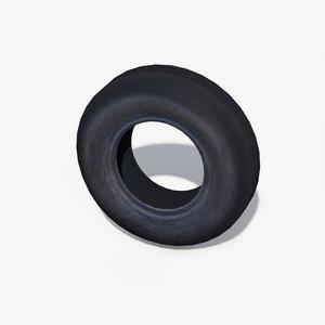 rubber tyre 3d obj
