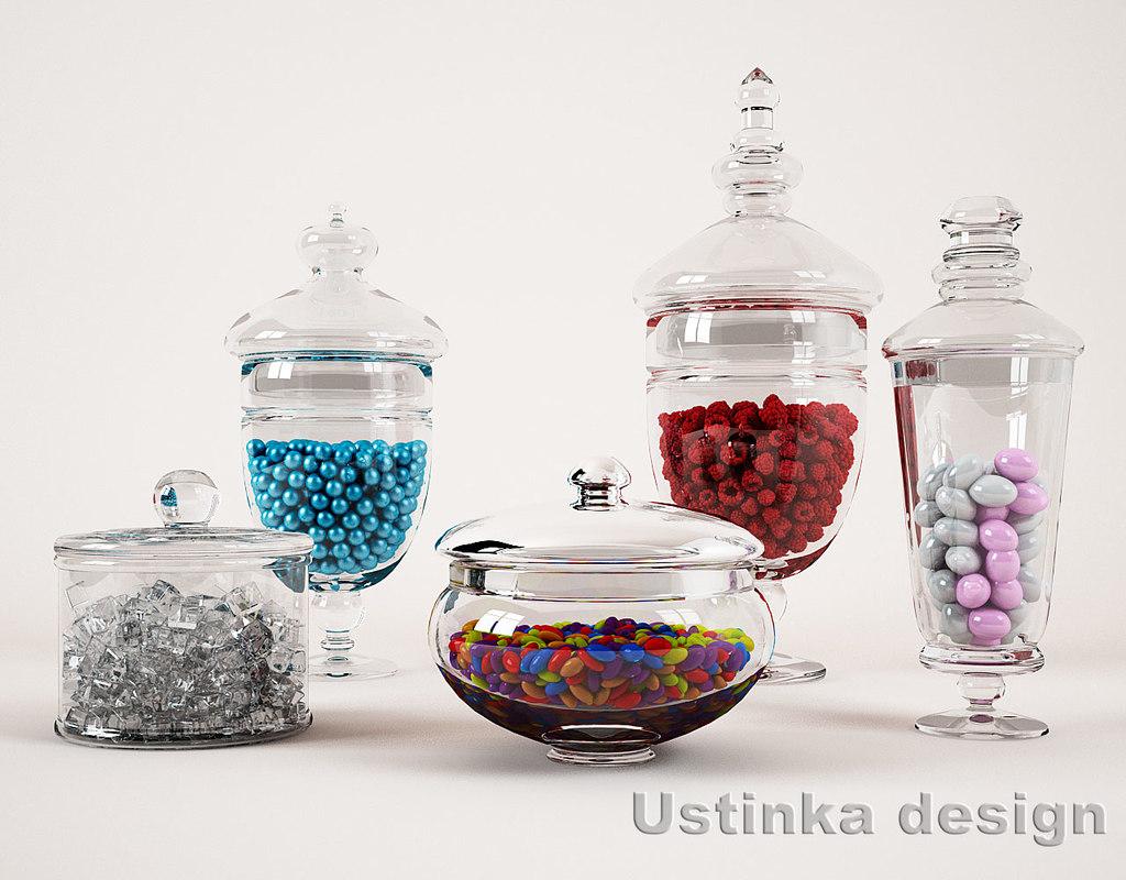 3ds glass jars