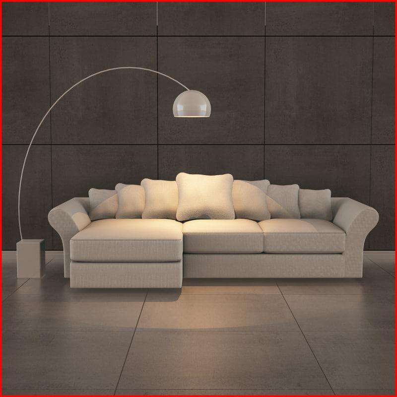 3ds max nice sofa 02