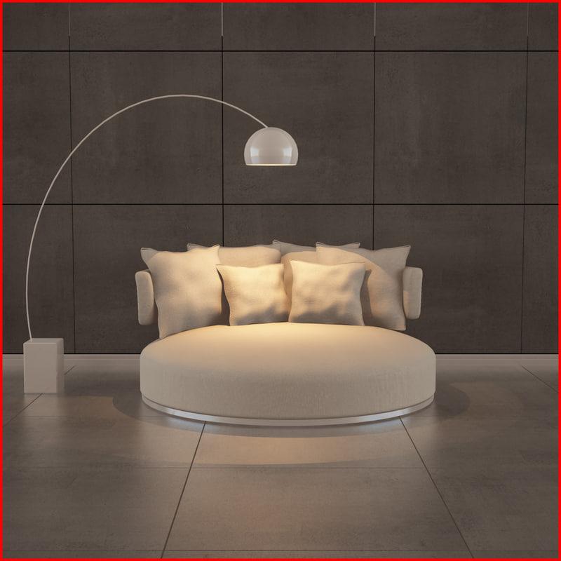 nice sofa 04 3d model