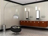 wash room scene 3d max