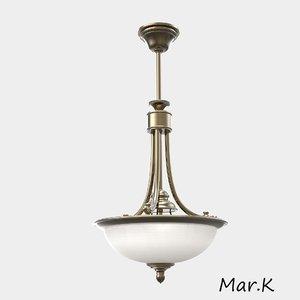 hanging light 20 tz-1 3d model