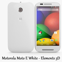 Motorola Moto E White - Elements 3D
