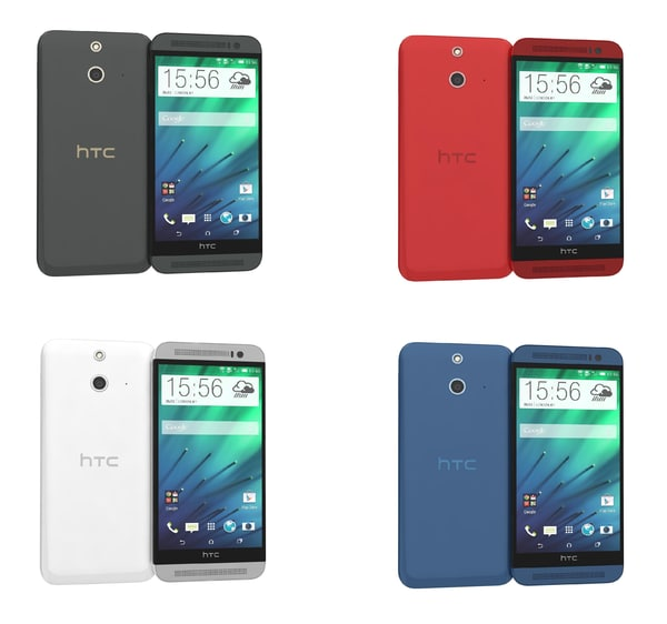 htc e8 colors 3d model