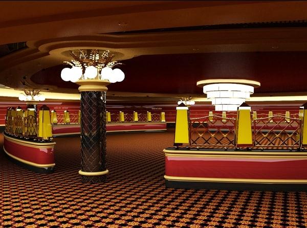 3d model casino interior