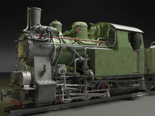 3ds polish steam locomotive