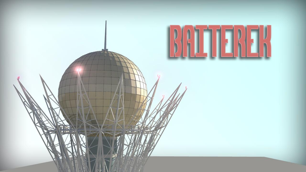 baiterek monument 3d model