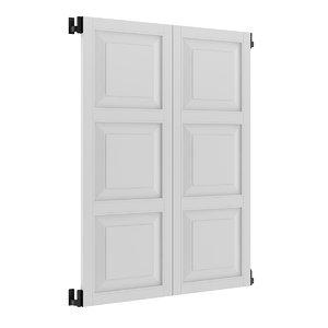 white external shutter 3d