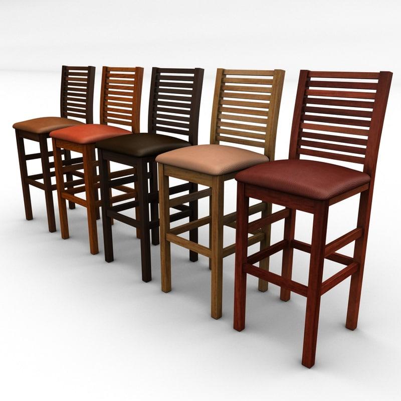 3ds bar chair stool